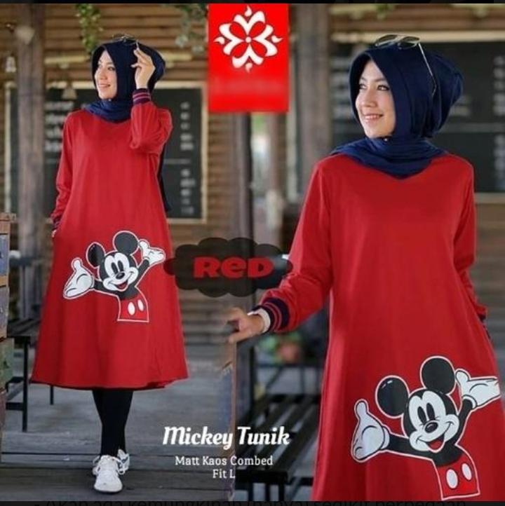 Jual Baju Atasan Wanita Mickey Tunik