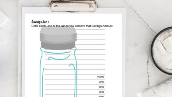 savings jar printable