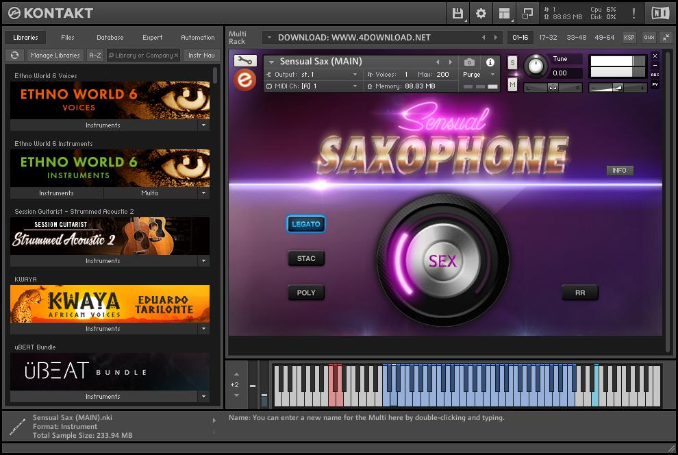 Embertone - Sensual Saxophone KONTAKT Library