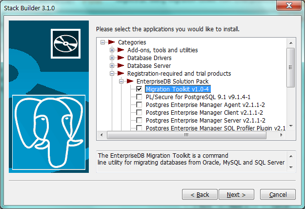 Migrate MySQL database to PostgreSQL using Migration ToolKit
