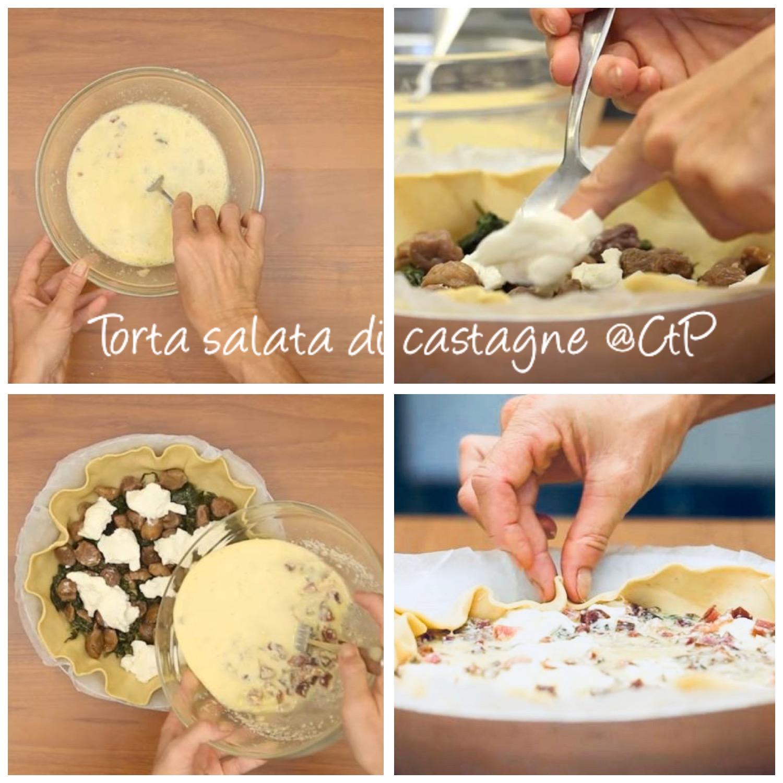 torta salata rustica di castagne alessandra ruggeri chef