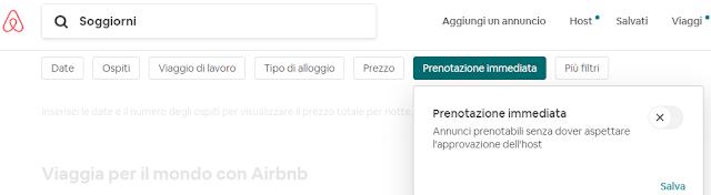 prenotare su airbnb