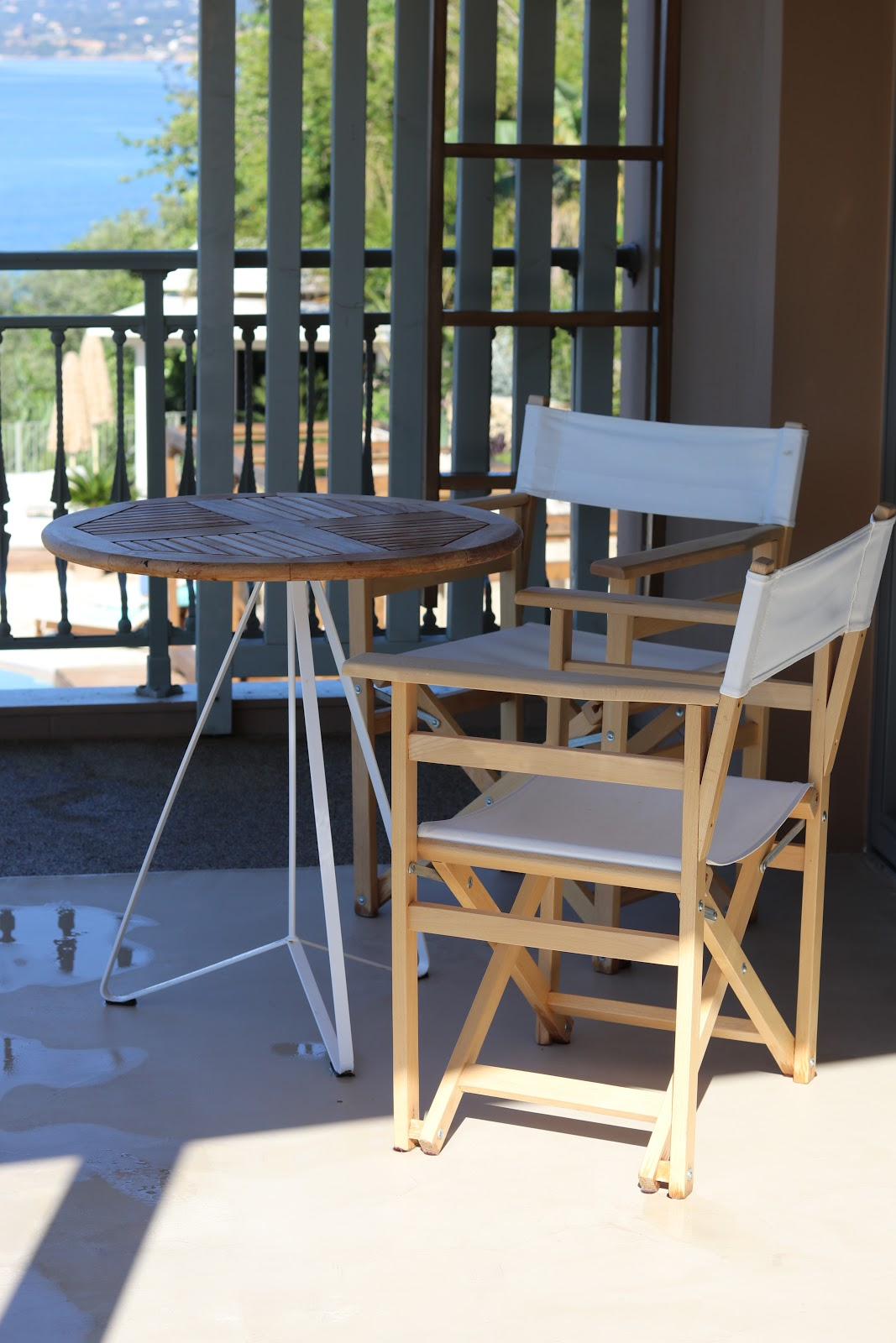 table and chairs, F Zeen Resort, Unique Villas, Kefalonia