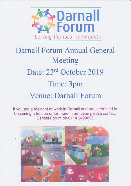 Poster for our AGM at the Forum on 23 October at 3pm