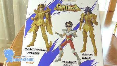 Revisión de las figuras de Aioros, Saga y Seiya Anime Heroes de Bandai