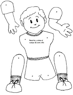 Actividades Escolares: actividades sobre el cuerpo humano