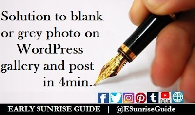 Solution to blank or grey photo in WordPress gallery and post in 4min