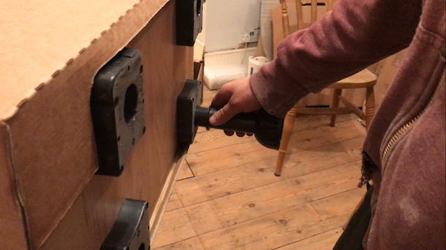 how to attach feet to kitchen units