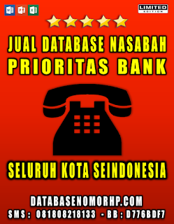 Jual Database Nasabah Bank Hot Prospek