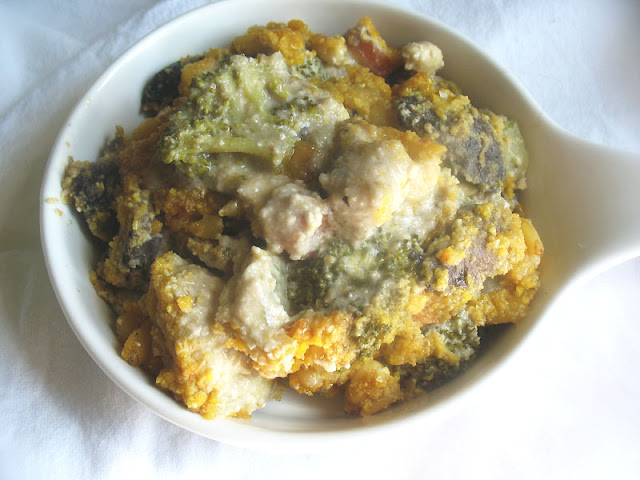 Vegan Cauliflower and Broccoli Mornay