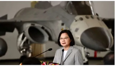 "Taiwan has called on China to step up its ""attack"" on its airspace"