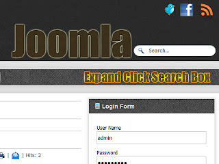 Expand Click Search Box on Joomla