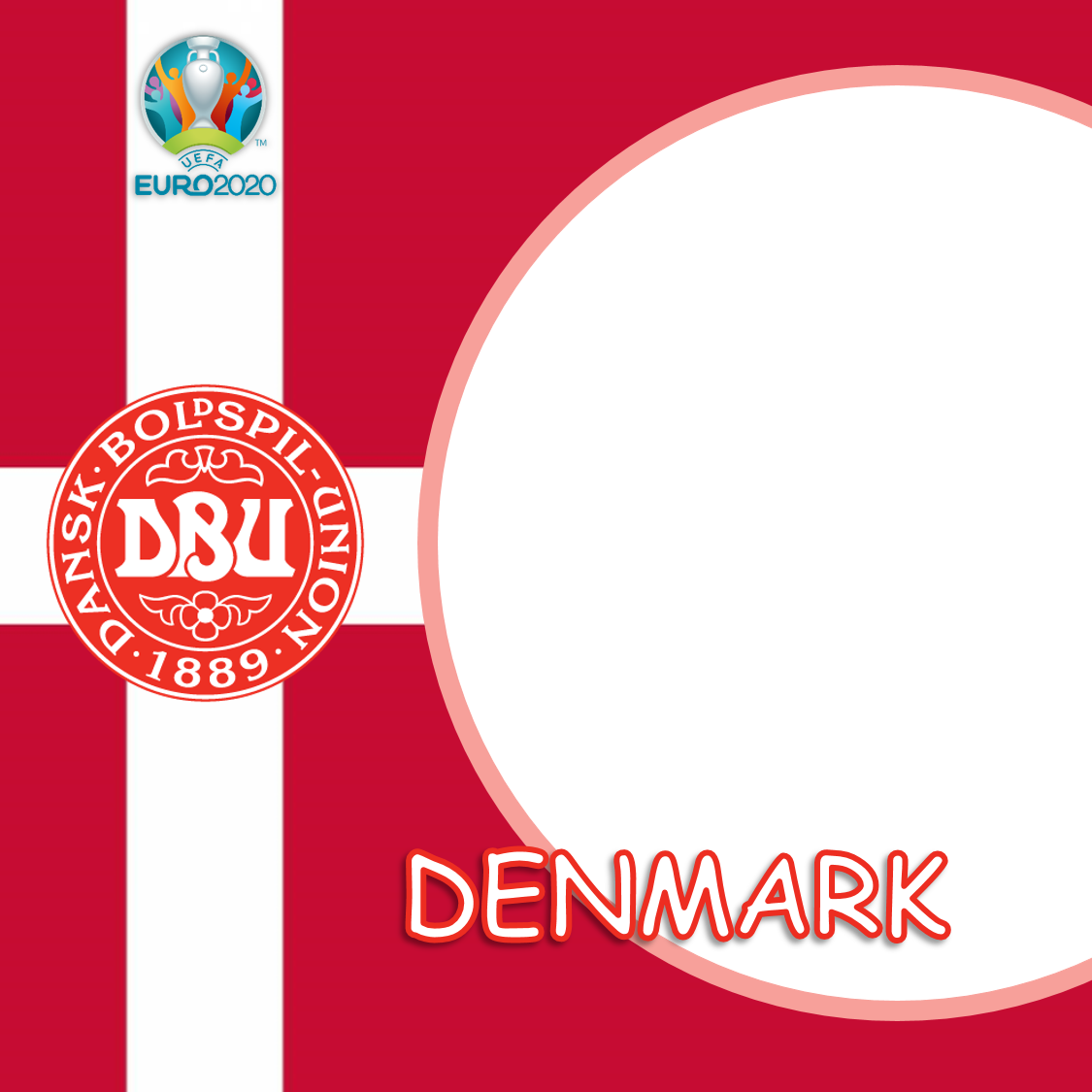 Link Download Frame Bingkai Twibbon Denmark Euro 2020/2021 - Twibbonize