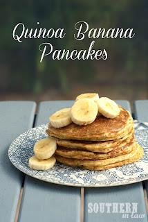 Healthy Gluten Free Quinoa Banana Pancakes Recipe