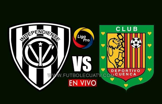 Independiente del Valle recibe a Deportivo Cuenca en vivo a partir de las 19h00 hora local, por la fecha cinco de la Liga Pro a emitirse por GolTV Ecuador a jugarse en el campo Olímpico Atahualpa. Con arbitraje principal de Jefferson Macías.
