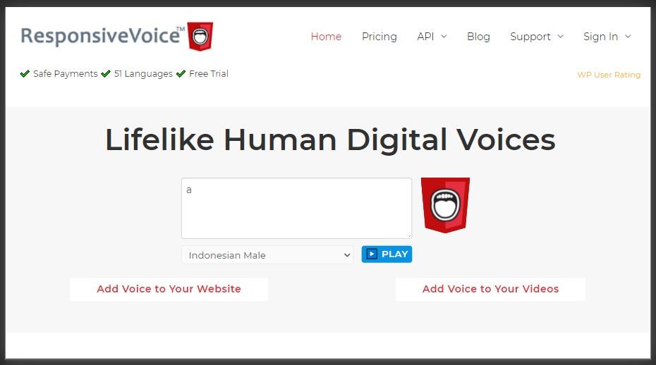 pilihan suara beragam di responsive voice