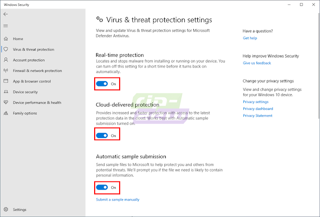 Aktifkan Fitur Windows Defender