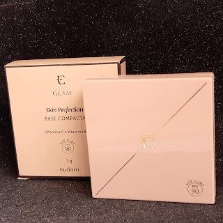 resenha base compacta eudora glam cor 50 dicas da tia