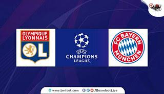 بث مباشر مباراة بايرن ميونخ ضد ليون مباشرة في نصف نهائي دوري ابطال اوروبا