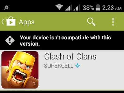Cara Mudah Mengatasi Clash of Clans isn't compatible with your device, penyebab Clash of Clans isn't compatible with your device, mengatasi masalah Clash of Clans isn't compatible with your device, kekurangan Clash of Clans isn't compatible with your device, yang membuat Clash of Clans isn't compatible with your device, tidak bisa install aplikasi android Clash of Clans isn't compatible with your device, Clash of Clans isn't compatible with your device 2016