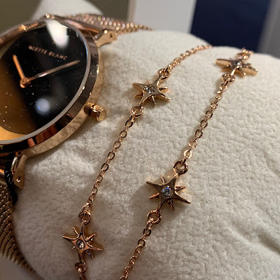 ALETTE BLANC アレットブラン 月 クレセントムーン 月デザイン ブレスレットセット シンプル時計