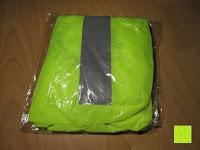 Verpackung: Regenschutz für Rucksäcke Rucksackschutz Ranzen Regenschutz Rucksackcover Regenüberzug Neon Sicherheitsüberzug Reflektorüberzug