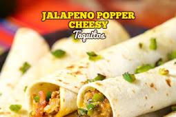 Jalapeno Popper Cheesy Taquitos