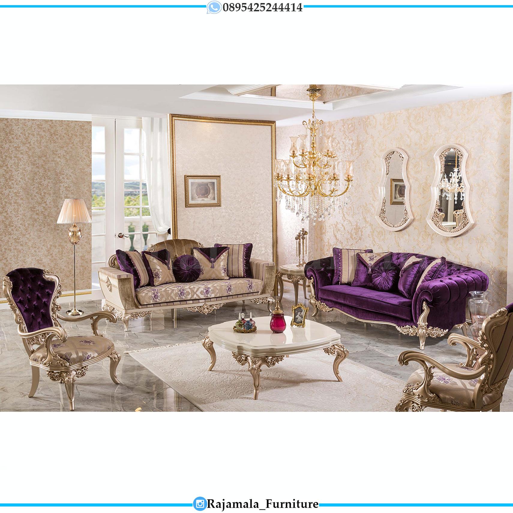 Sofa Mewah Luxury Classic Desain Ruang Tamu Great Furniture Jepara RM-0138