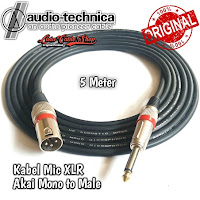 Kabel Mic Audio Akai mono To Male 5 Meter Canon Canare