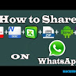 How To Share Zip, Doc, Pdf, Apk Files On Whatsapp