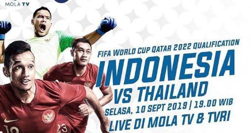 Jadwal Indonesia vs Thailand - Kualifikasi Piala Dunia