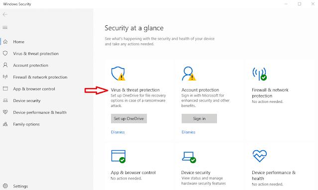Masuk ke Windows Security Untuk Mengatasi Scratch Disk Error di Adobe Premiere