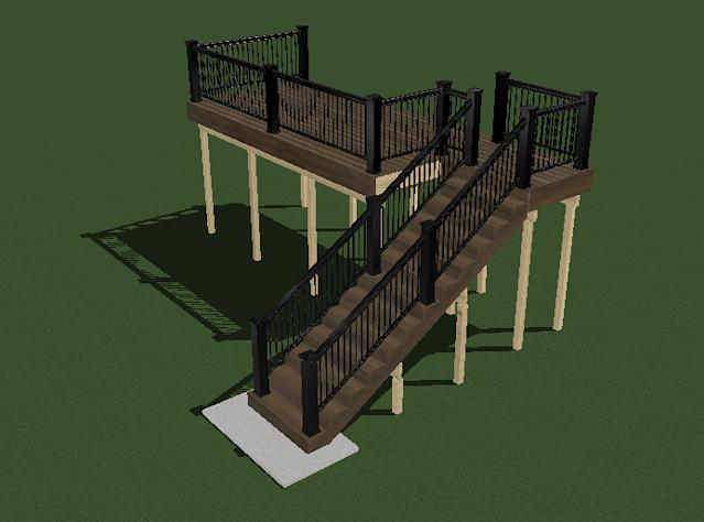 Timber decking design