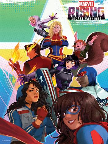 Marvel Rising Secret Warriors 2018 Dual Audio ORG Hindi BluRay 720p 900MB ESubs