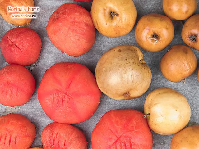 Запеченные в духовке овощи и фрукты