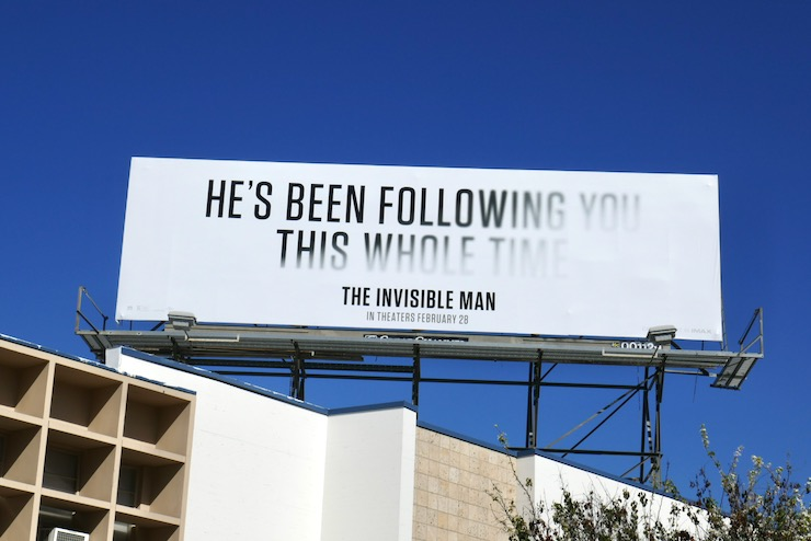 following you whole time Invisible Man billboard