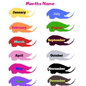 Months,Days,Season Names in English