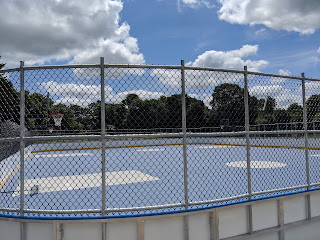 view of the new basketball courts and street hockey rink 1