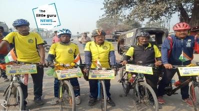 पेड़ बचाओ-पेड़ लगाओं का संदेश लेकर पहुंचा साईकिल दल