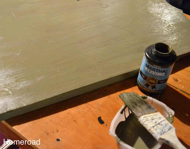 painting the headboard a sage color