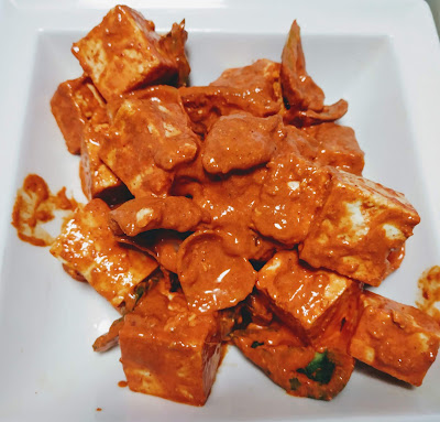 Paneer and vegetables mixed with Tandoori masala for Paneer Tikka