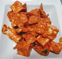 Paneer and vegetables mixed with Tandoori masala for Paneer Tikka
