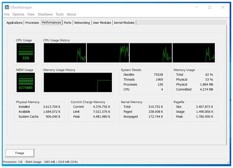 DTaskManager : Εφαρμογή διαχείρισης εργασιών για τα Windows