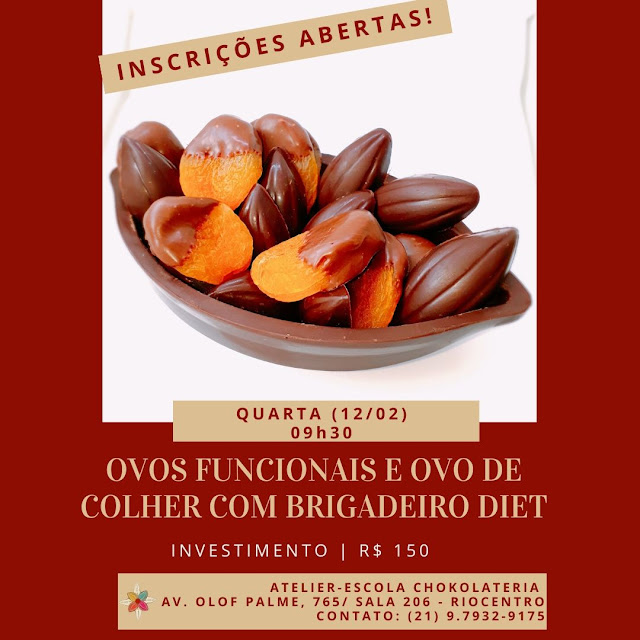 Curso | Ovos de Páscoa Funcionais e Brigadeiro Diet