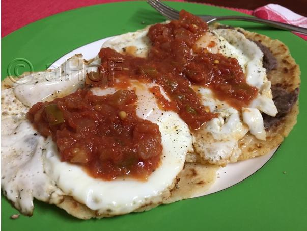 Potato Pancake Huevos Rancheros