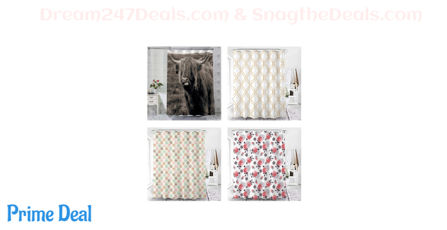 50% OFF Floral Fabric shower curtain