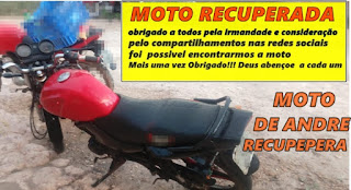 Ibicoara: Moto furtada no distrito de Cascavel é localizada em Itaetê