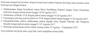 Surat Edaran Dirjen mengenai Jadwal Pretets PKB Tahun 2017