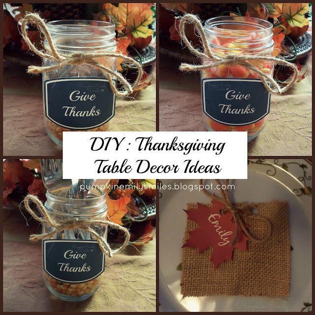DIY: Thanksgiving Table Decor Ideas