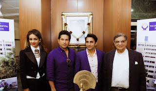 Sachin Tendulkar - Natasha Poonawalla Unveils Initiative to Promote Health, Dedicates Villoo Poonawalla Memorial Hospital; the multi-specialty hospital to cater to the under privileged sections at affordable rates